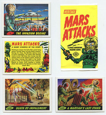 Mars Attacks Heritage 2012 Set includes Deleted Scenes(65 Cards)