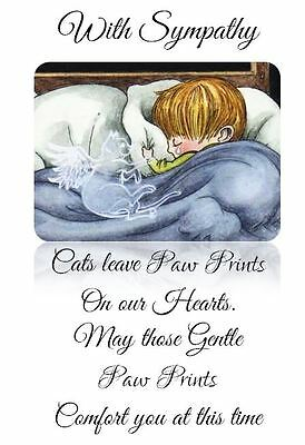 CAT LOSS SYMPATHY card. Hand Crafted and personalised by Dandelion Memorials xx