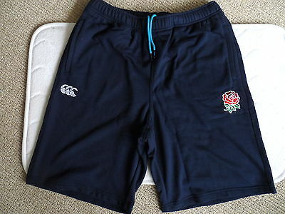 S M L XL XXL ENGLAND RUGBY NAVY FLEECE SHORTS New Tags New Mens