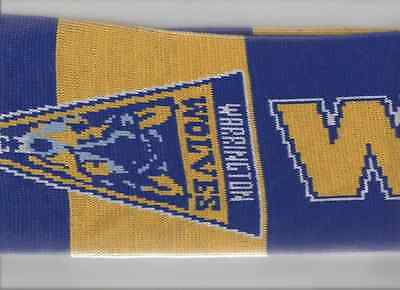 2016 Grand Final-Warrington Wolves Scarf Oct-16-@old Trafford-Rugby Super League