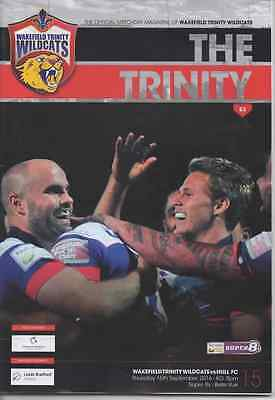 2016-Wakefield V Hull Fc-15/9/16-Super 8's-Eights League Rugby Programme