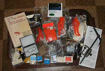 Large Lot of Fly Tying Equipment Clamp Book