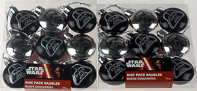 Set Of 18 Mini Star Wars Stromtrooper Christmas Tree Baubles Decorations