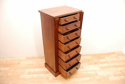 Antique Victorian Walnut Wellington Chest of Drawers dated from around 1860 c