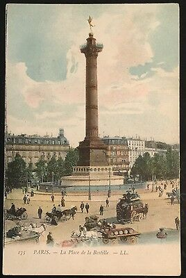 Old French Postcard - Paris - La Place de la Bastille