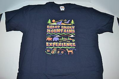 NEW Great Smoky Mountains Experience Great Activities Fishing T-Shirt Navy XL
