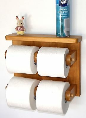 toilet roll holder,wooden,hand made,unique!! holds 4 rolls!