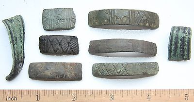 Group Of Ancient Hand Ornament Bracelet Fragments. Viking Age. (NOW03)