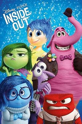 "INSIDE OUT POSTER ""CHARACTERS"" LICENSED ""BRAND NEW"" DISNEY ""SIZE 61cm X 91.5cm"""