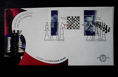2001 Netherlands Nederland Sport Chess Max Euwe Fdc 434 N49.7