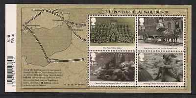 2016 Gb Qeii The Great War Commemorative Miniature Sheet With Barcode Mnh
