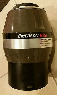 Emerson E100 Food Waster Disposer, 1/2 Horsepower