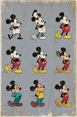 """Disney's Mickey Mouse Poster """"licensed"""" Brand New """"evolution"""""""
