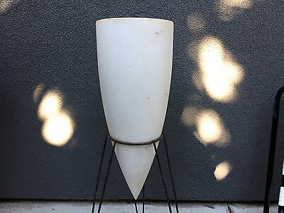 Tripod Bullet Architectural Planter Vintage Mid Century Modern Pottery Kimball