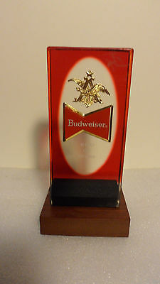 """Budweiser Red 2-Sided Tap Handle Excellent  5"""""""
