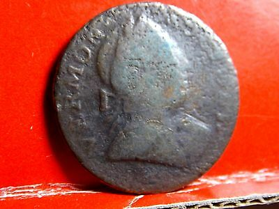 1788 Vermont Colonial Copper Coin - RR-20 Bust Right RR20