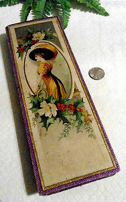 Vintage Early J.s. Fry & Sons Victorian Chocolate Candy Box Portrait Oval Woman
