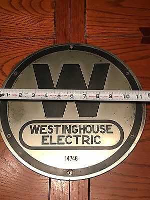 Westinghouse Elevator White Brass Extra Large Machine Tag