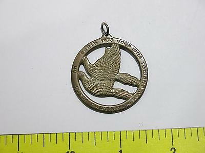 Antique Wallace Sterling Good Will Toward Men Peace On Earth Medallion Doves W@w