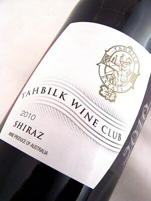 2010 CHATEAU TAHBILK Wine Club Shiraz Isle of Wine