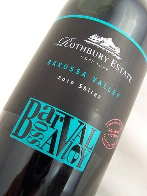 2010 ROTHBURY ESTATE Barossa Valley Shiraz Isle of Wine