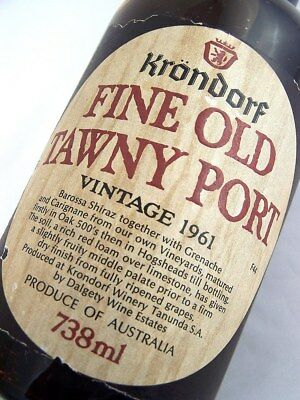 1961 KRONDORF Fine Old Tawny Port B Isle of Wine