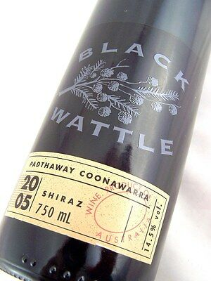 2005 BLACK WATTLE Padthaway Shiraz Isle of Wine