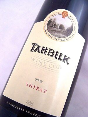 2003 CHATEAU TAHBILK Wine Club Shiraz Isle of Wine