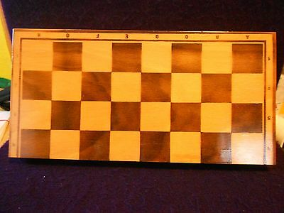 Wooden Chess Set in Foldable Storage Box/Gameboard-Made in Poland