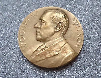 Woodrow Wilson second Inauguration bronze medal by Morgan