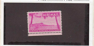 1952 MNH VF 80ct Airmail  Red-Violet Dianmond Head C46 - MNH