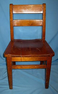 Antique Vintage Child Wood/Wooen School Church Chair OAK!