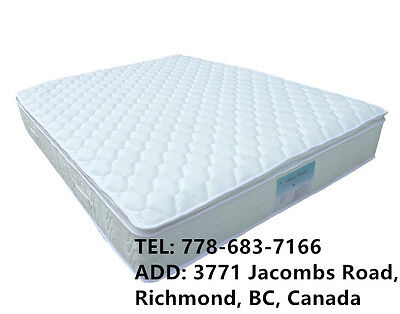 New Bed Pillow Euro Top Mattress Single Double Queen King Size