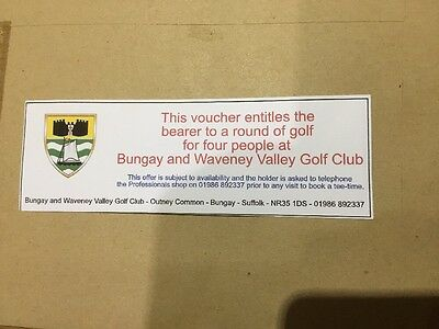 Round Of Golf For Four At Bungay