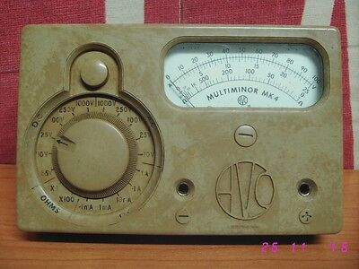 Multimetro tester AVO MULTIMINOR MK4 polimetro multimeter analog vintage.