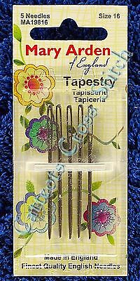 Tapestry Needles (5) Size 16 Needle for Tapestry Needlepoint Made in England