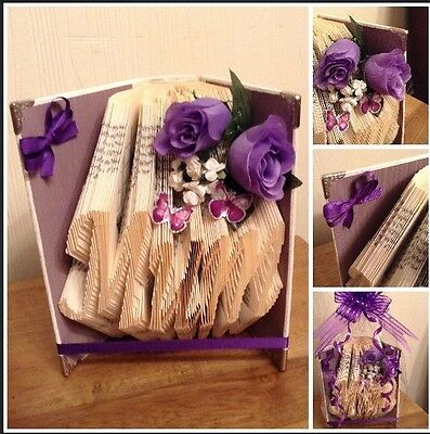 Book Folded Craft  Mum Ideal Gift For Christmas, Birthday Ect