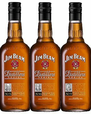 Jim Beam Distiller's Series Edition, NUMBERS 5,6,7 Set All Mint