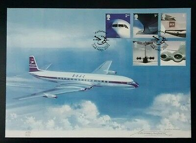 2002 Official Palette First Day Cover Airliners BOAC