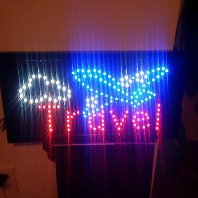 Led Animated Light Travel Business Sign For Travel Agency Store - New!