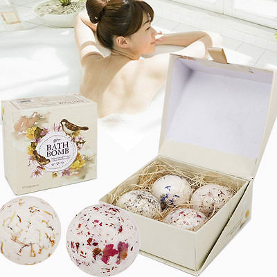 Professional Hot Natural Bubble Bath Bombs Sea Soft Bath Spa Ball Gift 4pcs/Set