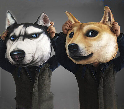 3D Cartoon Dog Husky Home Sofa Seat Chair Car Throw Cushion Pillow Cover Support