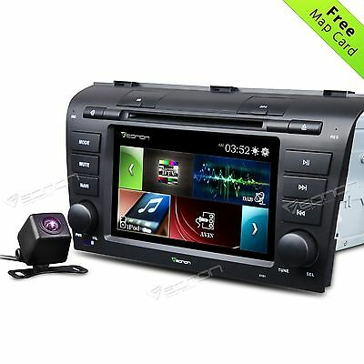 """USA 7"""" HOT Car DVD Player GPS CD Stere MP3/USB/SD US MAP for Mazda 3 04-09 E CAM"""