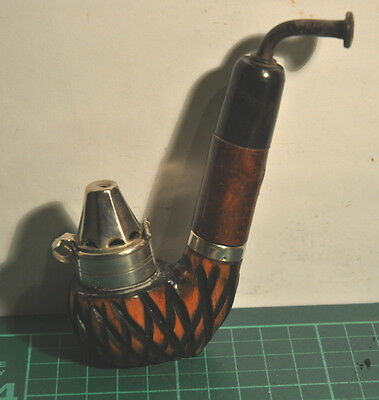 Very Well Carved Bowl Full Bent Allwetter/tyrolean Estate Pipe With Windcap.