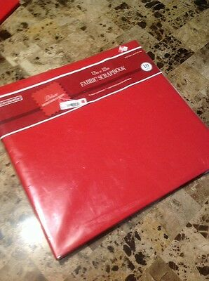 Colorbok Fabric Post Bound Album 12-in x 12-in Red 62076