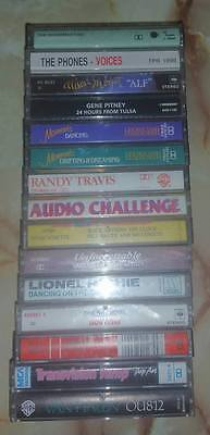 Various Artists cassette tape bulk lot of 15 with carry case Compilations etc