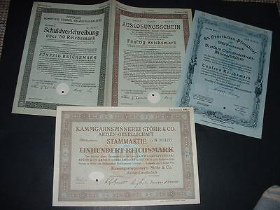 Original 3 Different Bonds /shares As Seen In Pictures (H6