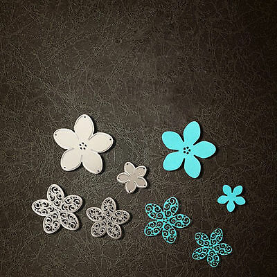 4 size Flower Cutting Dies Stencils for DIY Scrapbooking Photo Album Paper Craft
