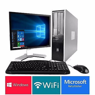 Full Dual Core Desktop Tower Pc & Tft Computer With Windows 10 & Wifi & 6Gb