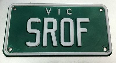 Personalised Custom Vic Number Plate For Motorcycle - Srof